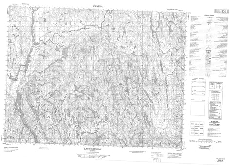022E05 Lac Chausson Canadian topographic map, 1:50,000 scale
