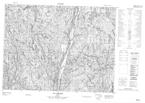 022E06 Lac Lemoine Canadian topographic map, 1:50,000 scale