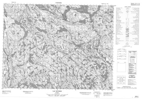 022E08 Lac Riverin Canadian topographic map, 1:50,000 scale