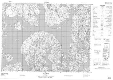 022E09 Lac Gouin Canadian topographic map, 1:50,000 scale