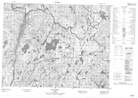 022E15 Lac A Paul Canadian topographic map, 1:50,000 scale