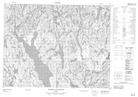 022E16 Riviere La Tourette Canadian topographic map, 1:50,000 scale