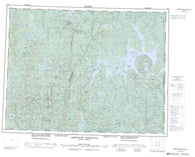 022E Reservoir Pipmuacan Canadian topographic map, 1:250,000 scale