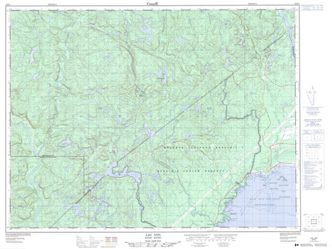 022F02 Lac Nipi Canadian topographic map, 1:50,000 scale