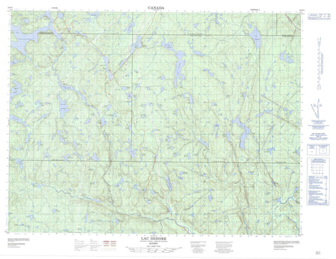 022F04 Lac Isidore Canadian topographic map, 1:50,000 scale