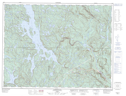 022F05 Labrieville Canadian topographic map, 1:50,000 scale