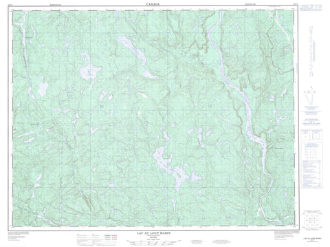 022F07 Lac Au Loup Marin Canadian topographic map, 1:50,000 scale