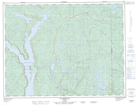 022F09 Lac Miquelon Canadian topographic map, 1:50,000 scale
