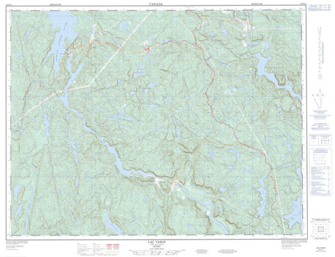 022F10 Lac Varin Canadian topographic map, 1:50,000 scale