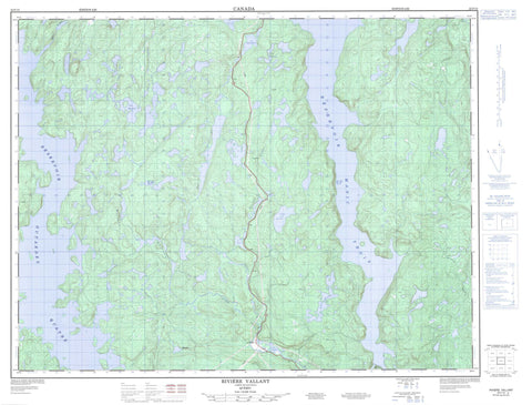 022F15 Riviere Vallant Canadian topographic map, 1:50,000 scale