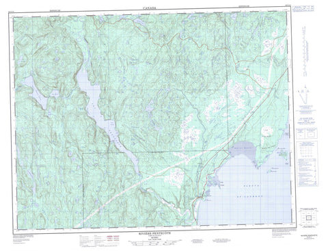 022G14 Riviere Pentecote Canadian topographic map, 1:50,000 scale