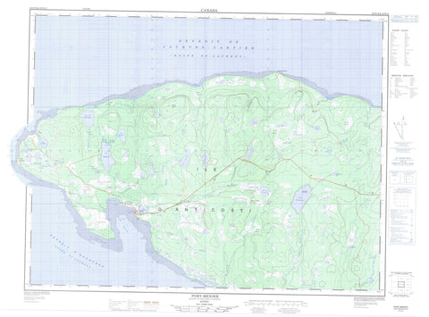 022H16 Port Menier Canadian topographic map, 1:50,000 scale