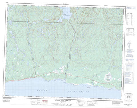 022I06 Riviere Aux Graines Canadian topographic map, 1:50,000 scale