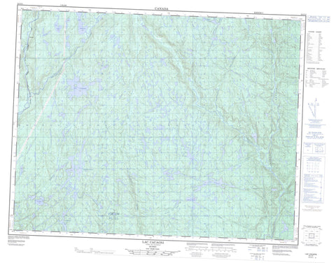 022I12 Lac Cacaoni Canadian topographic map, 1:50,000 scale