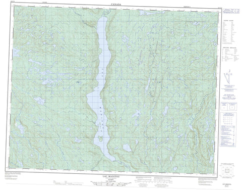 022I14 Lac Manitou Canadian topographic map, 1:50,000 scale