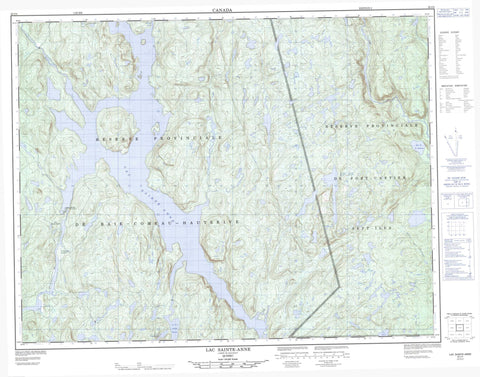 022J04 Lac Sainte Anne Canadian topographic map, 1:50,000 scale