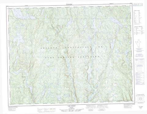 022J11 Lac Rond Canadian topographic map, 1:50,000 scale