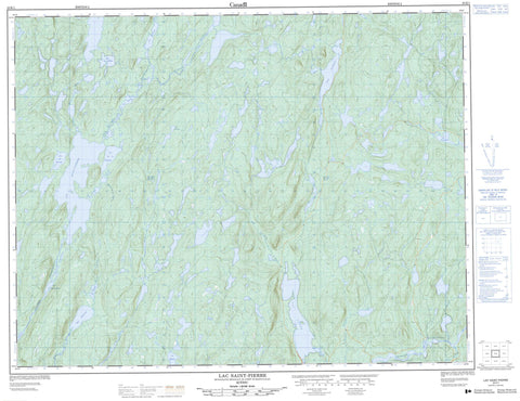 022K01 Lac Saint Pierre Canadian topographic map, 1:50,000 scale