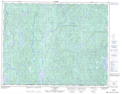 022K04 Lac Praslin Canadian topographic map, 1:50,000 scale