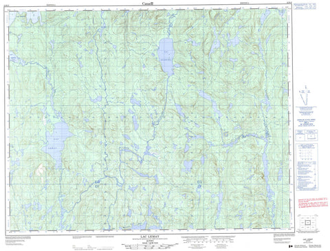022K09 Lac Lemay Canadian topographic map, 1:50,000 scale