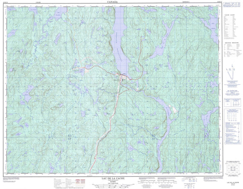 022K10 Lac De La Cache Canadian topographic map, 1:50,000 scale