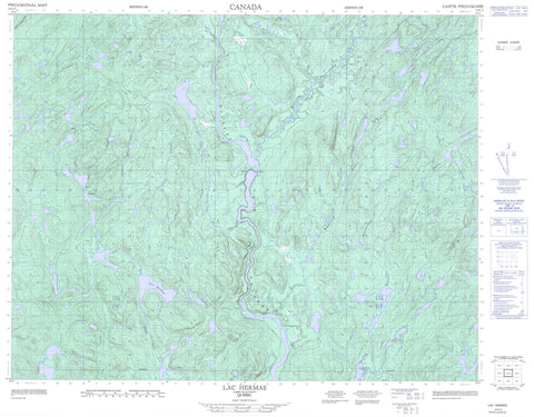 022K11 Lac Hermas Canadian topographic map, 1:50,000 scale