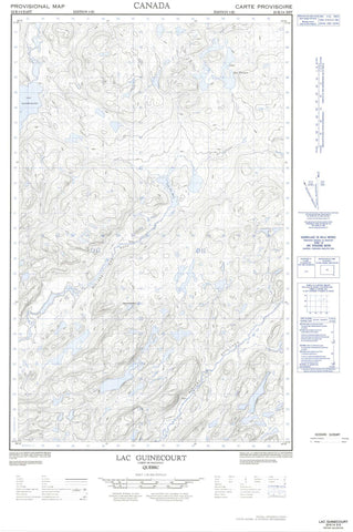 022K14E Lac Guinecourt Canadian topographic map, 1:50,000 scale