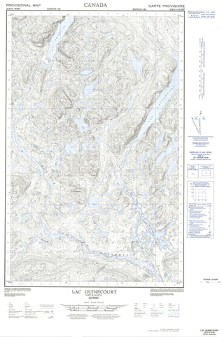 022K14W Lac Guinecourt Canadian topographic map, 1:50,000 scale