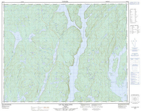 022K15 Lac Du Bois Long Canadian topographic map, 1:50,000 scale