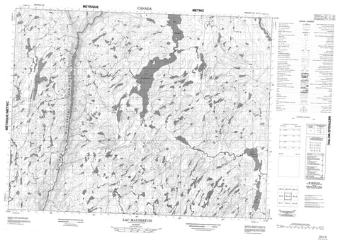 022L05 Lac Maupertuis Canadian topographic map, 1:50,000 scale