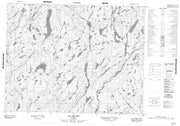 022L07 Lac Eluard Canadian topographic map, 1:50,000 scale from Quebec Map Store
