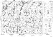 022L08 Lac Du Raccourci Canadian topographic map, 1:50,000 scale from Quebec Map Store