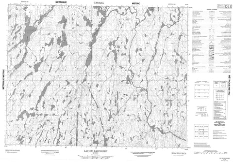 022L08 Lac Du Raccourci Canadian topographic map, 1:50,000 scale