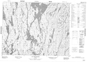 022L09 Lac Des Prairies Canadian topographic map, 1:50,000 scale from Quebec Map Store