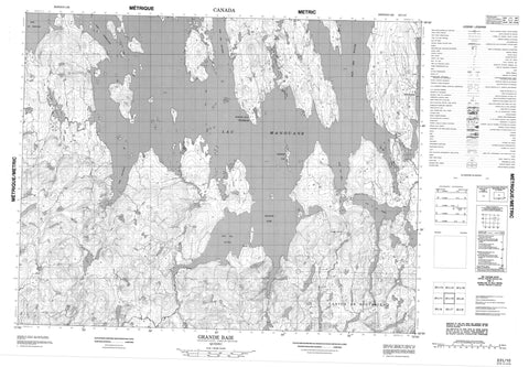 022L10 Grande Baie Canadian topographic map, 1:50,000 scale