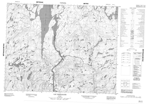 022L11 Lac Onistagane Canadian topographic map, 1:50,000 scale