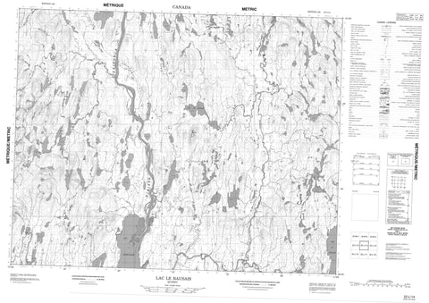 022L14 Lac Le Bausais Canadian topographic map, 1:50,000 scale