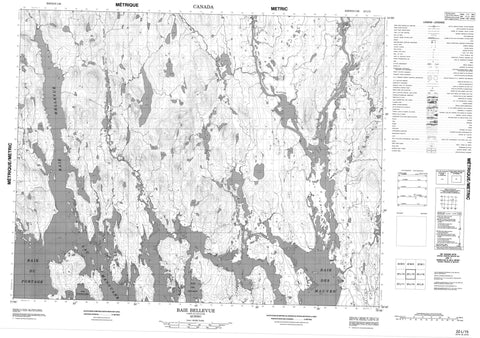 022L15 Baie Bellevue Canadian topographic map, 1:50,000 scale