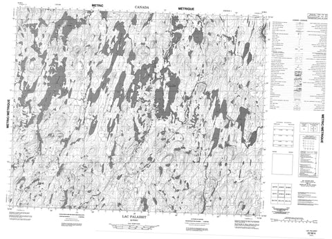 022M04 Lac Palairet Canadian topographic map, 1:50,000 scale
