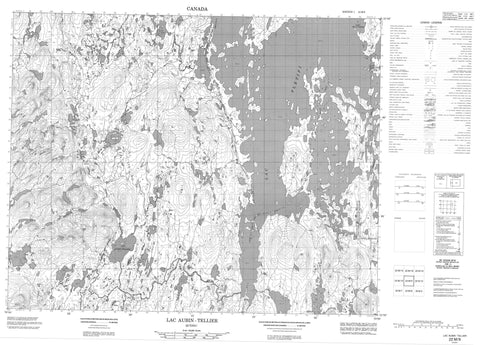 022M09 Lac Aubin Tellier Canadian topographic map, 1:50,000 scale