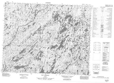 022M12 Lac L Epinay Canadian topographic map, 1:50,000 scale
