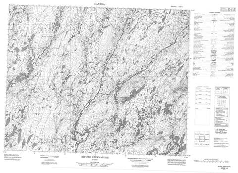 022M14 Riviere Epervanche Canadian topographic map, 1:50,000 scale