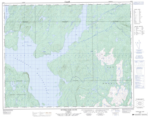 022N09 Riviere Hart Jaune Canadian topographic map, 1:50,000 scale
