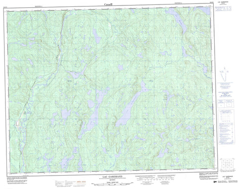 022O03 Lac Garemand Canadian topographic map, 1:50,000 scale