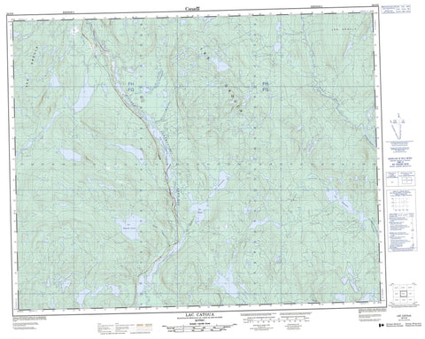 022O06 Lac Catoua Canadian topographic map, 1:50,000 scale