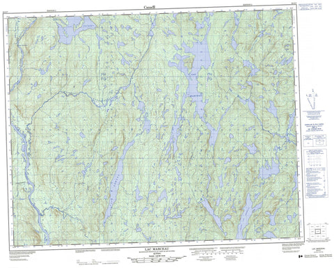 022O07 Lac Marceau Canadian topographic map, 1:50,000 scale