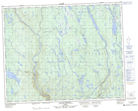 022O09 Lac Du Brochet Canadian topographic map, 1:50,000 scale