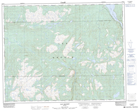 022O12 Lac Raudot Canadian topographic map, 1:50,000 scale