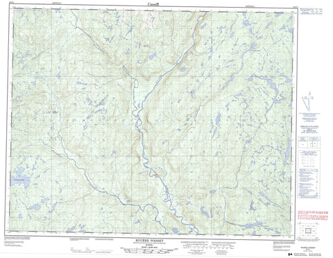 022P01 Riviere Poisset Canadian topographic map, 1:50,000 scale