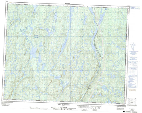 022P05 Lac Dufresne Canadian topographic map, 1:50,000 scale